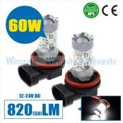 高性能、高輝度H7/H8/H9/H10/H11/HB3/HB4/H16/5202/P13W/PSX26W/PSX24W/PY24W 60W CREE 車カー用品