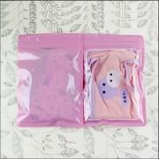 14×20 cm色透明の袋がかわいいピンクのタイツは、卸売下着の収納包装袋靴下