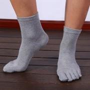 メンズ純綿五本指靴下 流行り防臭男性靴下 ファッション純綿靴下 五本指靴下