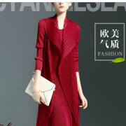 春2016 新しいソリッドカラー ネット糸継ぎ倍のフルスカートドレス ラウンドネック長袖 背の高いウエストのドレスは女性であります ネット糸ステッチのデザインピュアカラー契約したスタイルフォールプロセ