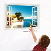 トリックアート 新シービュー3Dウィンドウのリビングルームのベッドルームの家の装飾DIYの壁紙
