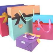 4色 ラッピング レジぶくろ 紙袋 ギフトバッグ ちびJY-24