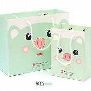 4色 ラッピング レジぶくろ 紙袋 ギフトバッグ 豚 JY-25