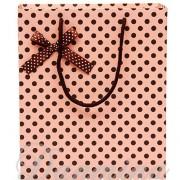 ピンク ラッピング レジぶくろ 紙袋 ギフトバッグ ドット JY-J1
