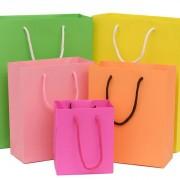 5色 ラッピング レジぶくろ 紙袋 ギフトバッグ ドット JY-07