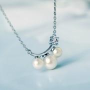 S990纯银日韩时尚珍珠女款项链 JHYXL001