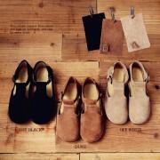 女文艺复古平底鞋 原创清新手工纯色牛真皮女凉鞋