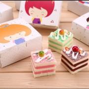 正方形彩色可爱的男孩和女孩西点包装、月饼、饼干包装/零食蛋糕烘焙包装盒子